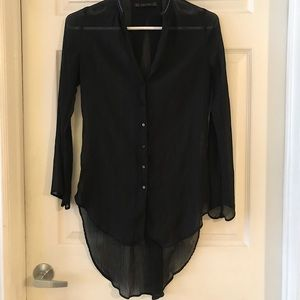 Zara Sheer black top!!!